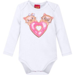 Body Manga Longa Cotton Gatinho Kyly 207300