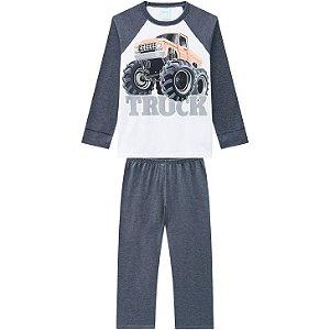 Pijama Infantil Blusa + Calça Brilha no Escuro Truck Kyly 207552