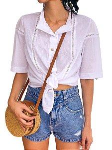 Camisa com botões Branca
