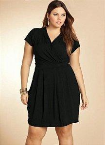 Vestido Plus Size Acinturado e Transpassado Várias Cores