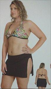 Biquíni Plus Size com Sutiã Bojo Removível e Calcinha com Saída