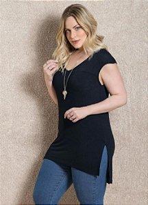 Blusa Plus Size Alongada Estilo Mullet Várias Cores