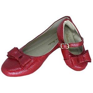 Sapatilha Vermelha Comfort  Bico Redondo