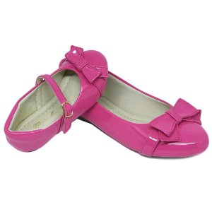 Sapatilha Rosa Pink Laço Verniz Comfort