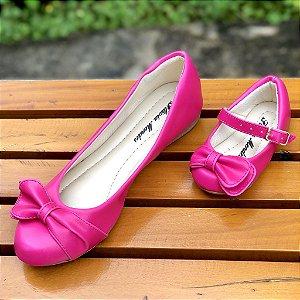 Sapatilha Rosa Pink Laço de Lado Palmilha Tradicional