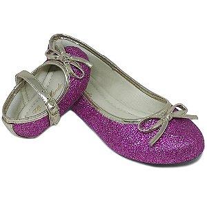 Sapatilha Glitter Rosa c/ Lacinho Comfort