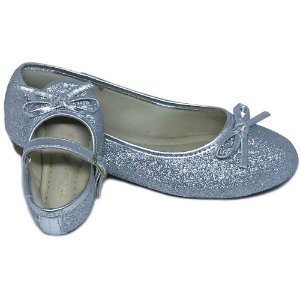 Sapatilha Glitter Prata  Lacinho Comfort