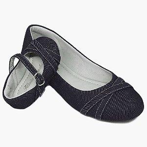 Sapatilha Jeans Azul com Laço X Comfort