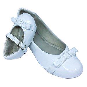 Sapatilha Branca Verniz Daminha Comfort
