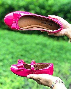 Sapatilha Verniz Rosa Pink Comfort