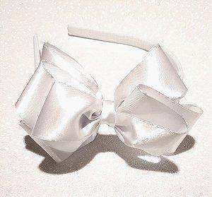 Tiara Branca Laço Duplo