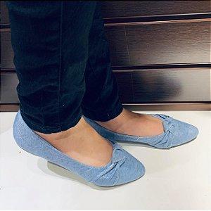 Sapatilha Jeans Adulta Azul