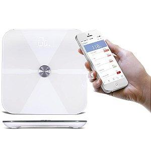 Balança Digital com Analisador Corporal de BioimpedânciaI Com Bluetooth E Aplicativo SkinUp
