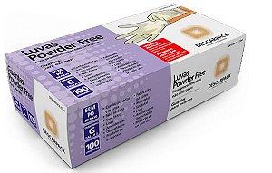 Luva de Látex para Procedimento Sem Pó - Uso Médico (100 unidades) - Descarpack