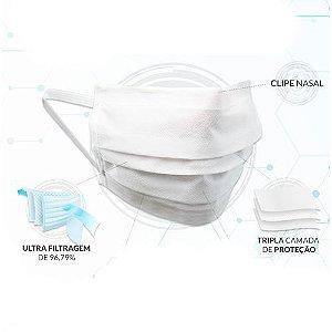 Máscara Descartável Dupla c/Clipe Caixa com 25un - Salus Brasil