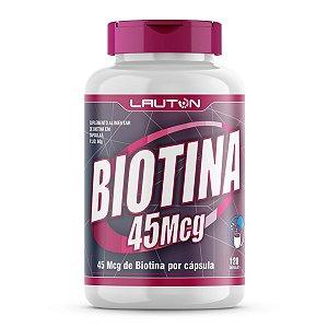Biotina 45 mcg - 120 Cápsulas - Lauton Nutrition - Biotina 45Mcg - 120 Cápsulas - Lauton Nutrition