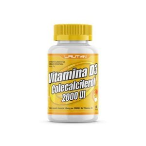 Vitamina D3 2.000UI - 60 Cápsulas - Linha Clinical Series Lauton Nutrition