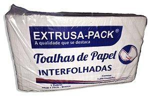 Papel Toalha Interfolha Branco 1.000 Folhas Extrusa Pack
