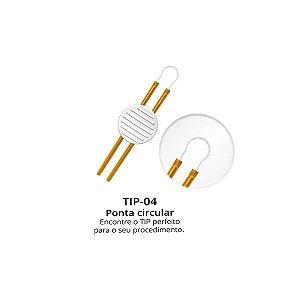 TIP-4 Ponteira descartável Enerpen Ponta Circular Caixa 10un