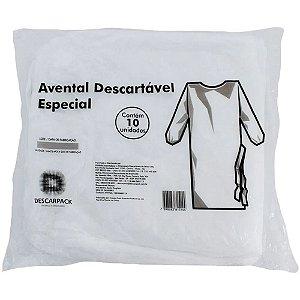 Avental de Procedimento Descartável com 10un Descarpack