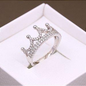 Anel Coroa micro cravejado