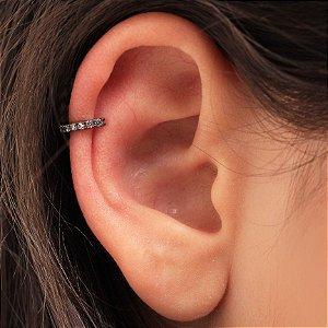 Piercing Fake mini argola cravejada