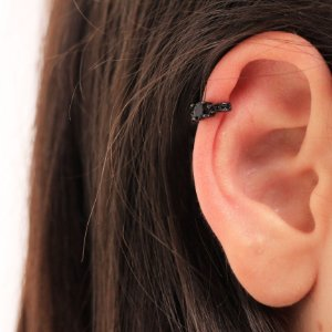 Piercing Fake Micro cravejado e Oval