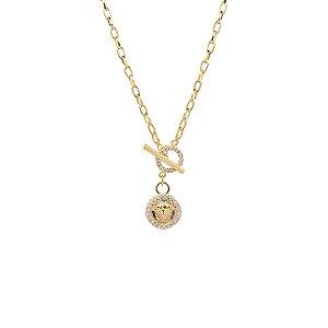 Colar Medalha mini Athena