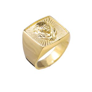 Anel Quadrado Leão