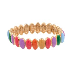 Pulseira oval resinada colors