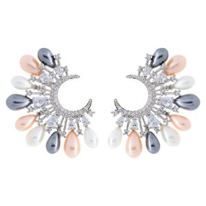 Brinco Pérolas Color Grand Ear Cuff