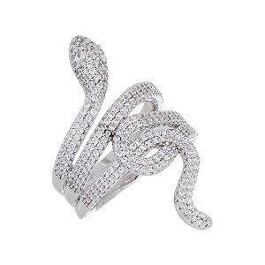 Anel Cobra Inspired Luxo