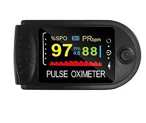 Oxímetro de Pulso Medidor SpO2 e de Batimentos Cardíacos