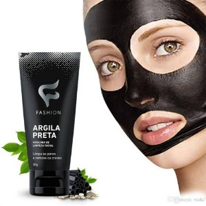 Argila Preta Máscara de Limpeza Facial