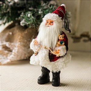 Pingente Papai Noel com Ursinho