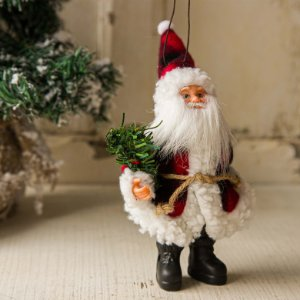 Pingente Papai Noel com Guirlanda