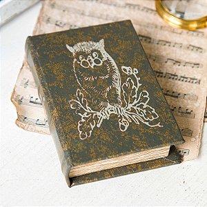 Caixa Livro Vintage - Coruja