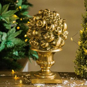 Vaso Pinha de Frutas Gold