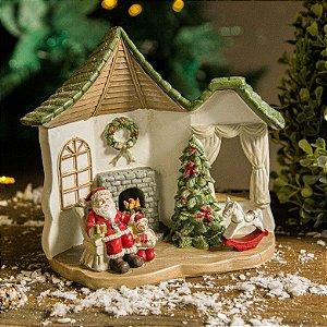 Cenário da Casinha do Papai Noel