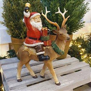 Papai Noel Sentado na Rena - Pré-venda