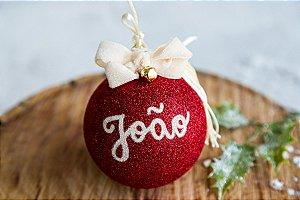 🎄Bola de Natal Modelo Glitter personalizada (unidade)🎄