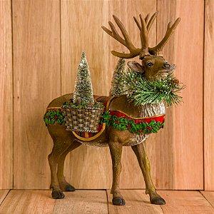 Rena em pé com pinheiros de Natal - INCRÍVEL!!!! NÃO PERDE GENTEEEEEE!!!!