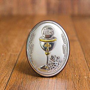 Lembrança para primeira comunhão - Adorno Italiano madeira com prata