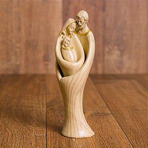 Imagem Sagrada Familia Encaixe 3 peças 15 cm