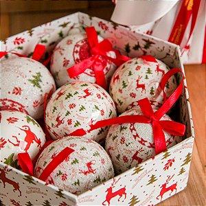 Caixa de Bolas Merry Christmas (PRODUTO 100% REVERTIDO PARA DOAÇÃO)