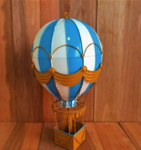 Balão de Metal Vintage Azul