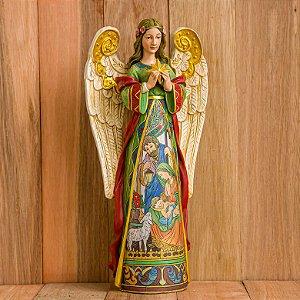 Anjo com Presépio Ilustrado