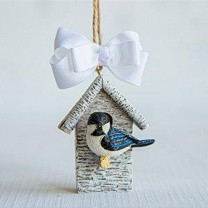 Enfeite Casa de Passarinho Azul