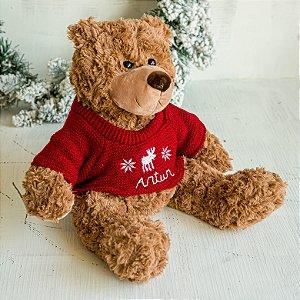 Ursinho de Pelúcia com Suéter Vermelho (G)