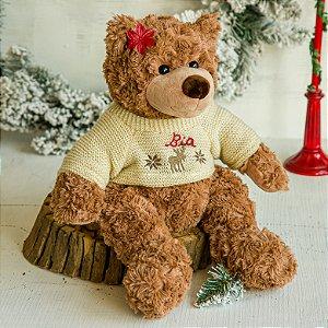 Ursinho de Pelúcia com Suéter Bege (G)